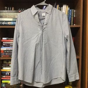 Navy & white striped blouse from Gap